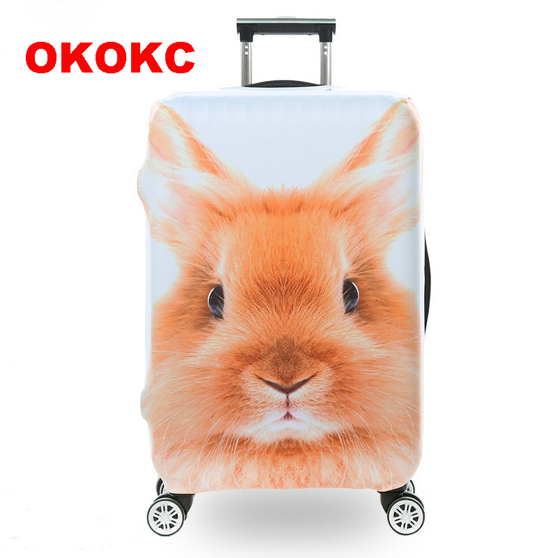 OKOKC Cute Squirrel Luggage Protective Covers Elastic Trolley Travel Suitcase Bags Dust 18-30'' Accessories Travel Products