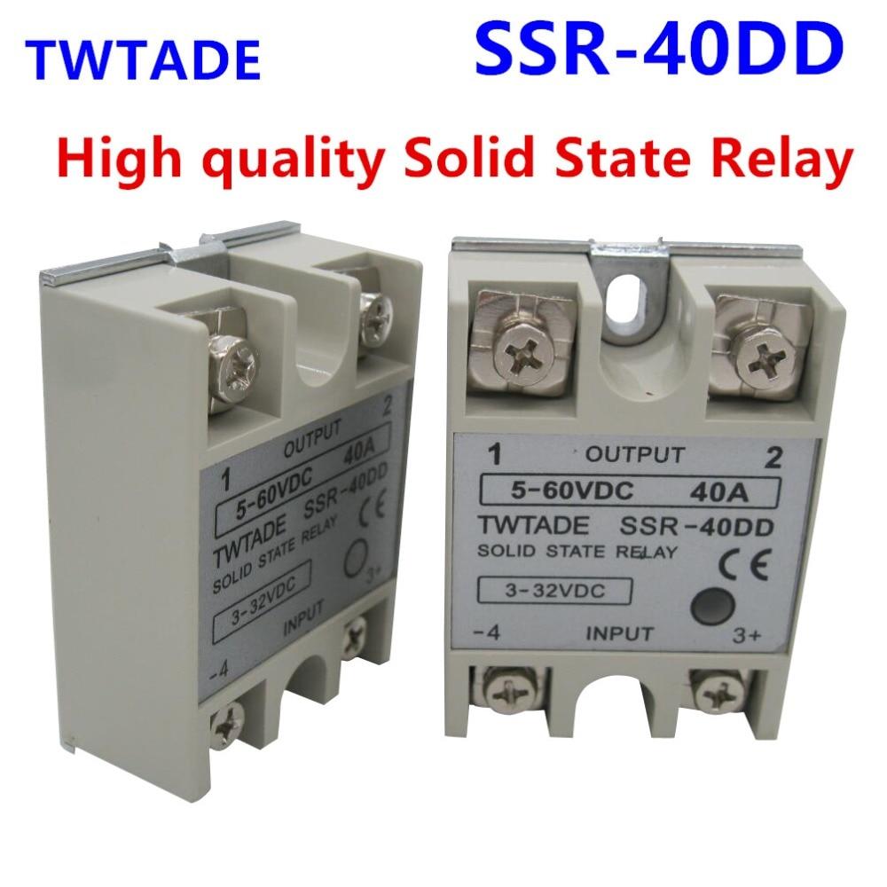 1pcs Soild State Relay SSR-40 DD DC-DC 40A 3-32VDC//5-60VDC