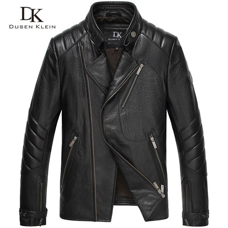 Дюсенов Klein бренд Для мужчин из натуральной кожи куртка Верхняя одежда на осень природа дубленка 15L1451