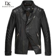 Dusen Klein Brand Men Genuine Leather Jacket Autumn Outerwear nature Sheepskin Coat 15L1451
