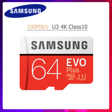 Карта памяти Samsung Micro SD карта 32 Гб 64 Гб 128 ГБ 256 U3 U1 4 K SDHC/SDXC Класс EVO + Class10 C10 UHS TF карты Модуль памяти Transflash карты памяти microsd карта