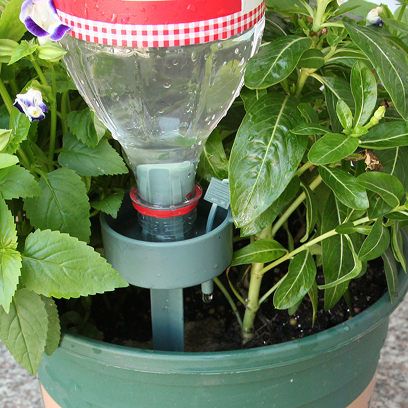 2 Set Automatic Drip Irrigation Self Watering Device Plant Flower Drip Sprinkler Waterer Bottle Irrigation System Garden Tool