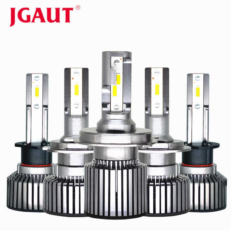 JGAUT Car Lights Headlights Mini H4 LED Bulbs H7 H11/H8 H1 9005 9006 9012 80W 14000LM 6500K Auto Automotive Headlamp Fog Light
