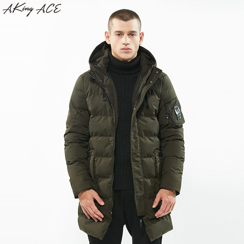 2017 AKing ACE Mens Winter Long Parka Men Outerwear Warm Thick Jacket Parkas Army Green Hooded Parka Coat M-XXXL ZA325 45 clothing mens winter jackets coat warm men s jacket casual outerwear business medium long coat men parka hooded plus size xxxl