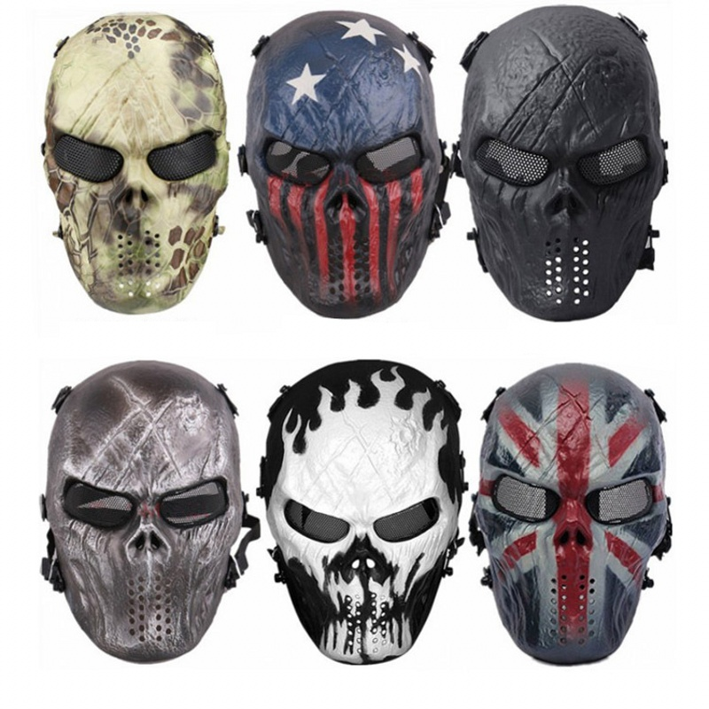 Airsoft Skull Paintball Mask M06 Army Tactical Mask Military CS Air Soft Mesh Full Face Cosplay Party Halloween Masks