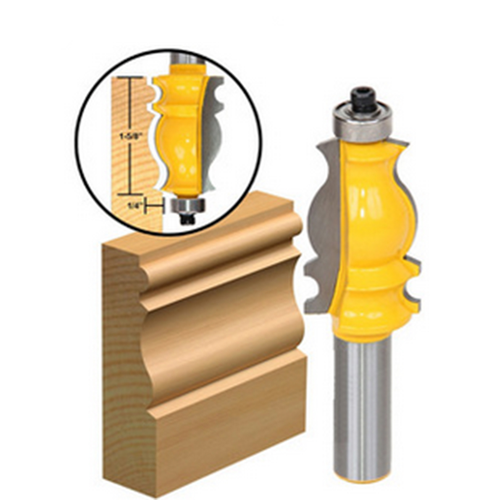1/2 inch Shank Architectural Cemented Carbide Molding Router Bit Trimming Cutter for Woodwork Cutter Power Tools high grade carbide alloy 1 2 shank 2 1 4 dia bottom cleaning router bit woodworking milling cutter for mdf wood 55mm mayitr