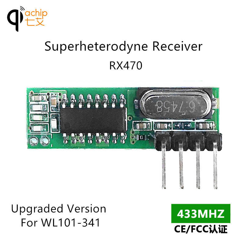 <font><b>RX470</b></font> RF modules Superheterodyne 433MHz Wireless Receiver module for Arduino uno Diy Kits 433 Mhz Remote control image