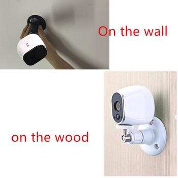 1 paczka regulowany CCD kamera bezpieczeństwa uchwyt do montażu na ścianie Arlo arlo Pro i innych kompatybilnych kamery Wifi z tworzywa sztucznego ABS tanie i dobre opinie iLifeeyesly CN (pochodzenie) Arlo Arlo Pro Arlo Pro 2 and Other Compatible Models wall mount white black 0 1kg shenzhen