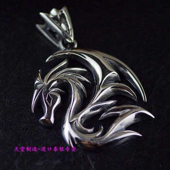 925 sterling silver men dragon silhouette Thai silver pendants