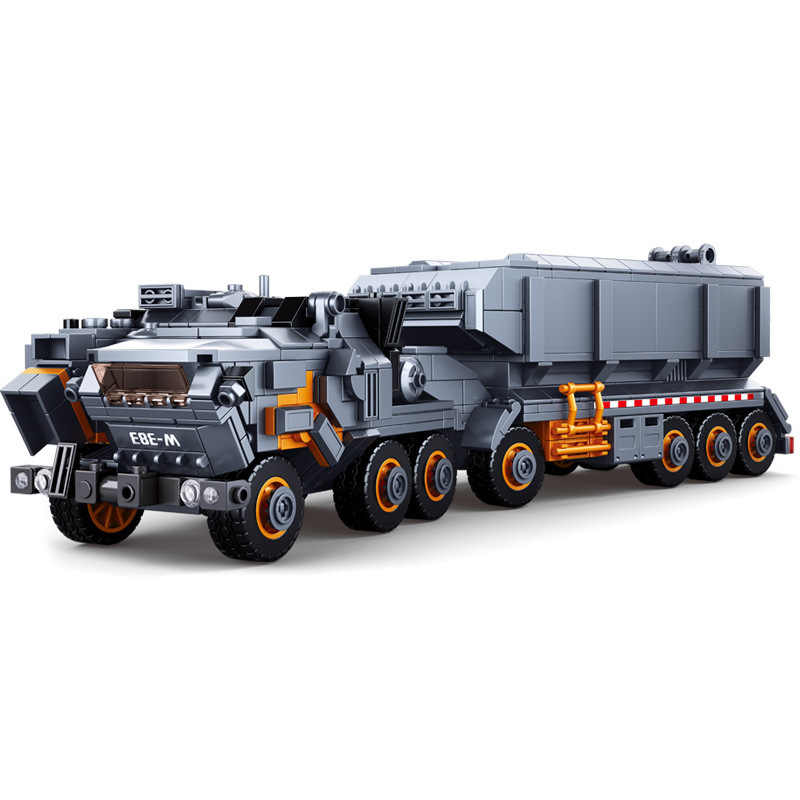 New 832pcs Movie Collector's Edition Series Wandering Earth Flint Carrier Small Particle Boy Military Building Blocks