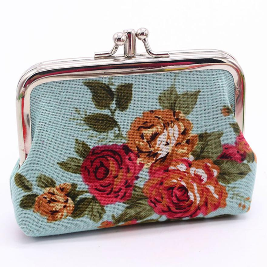 Women Coin Purses Retro Vintage Canvas Wallet Hasp Purse Clutch Change Pouch Bag Key Card Holder Bag Dropshipping Wholesale LP