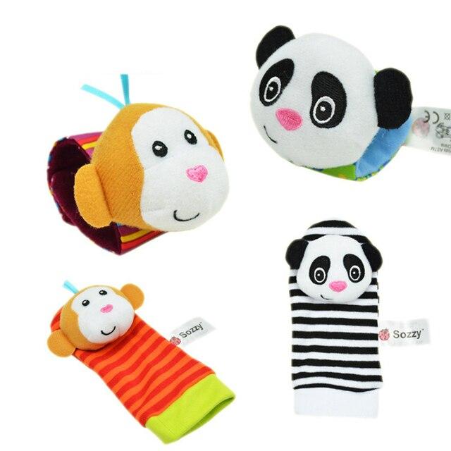 Gratis verzending Baby Rammelaar Baby Speelgoed 0-12 Maanden Sozzy Tuin Bug Pols Rammelaar en Voet Sok Educatief Speelgoed kerst 1