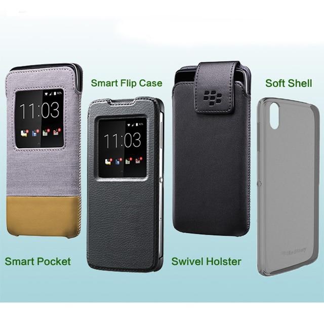 """Original Cloth+Leather Case for Black Berry DTEK50 Smart Pocket Swivel Holster Phone Cover Bag for BB DTEK50 5.2"""" Flip Case"""