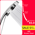YenHome Hand Held High Pressure Shower Head ABS with Chrome Water Saving Shower Head Bathroom Accessories Head Showers Douche