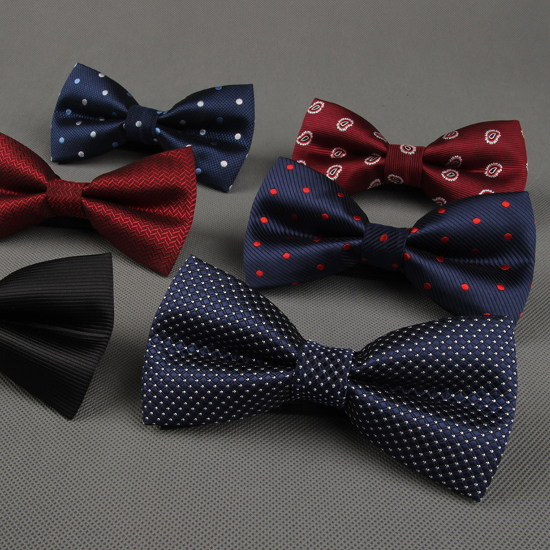 Newest Polyester Men's Bow Tie Brand Classic Dot Tie Bowtie For Men Leisure Business Shirts Bowknot Bow Tie Cravats Accessories