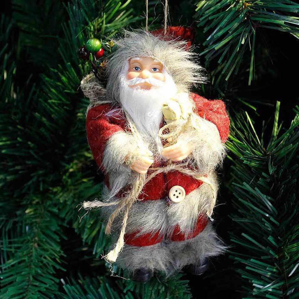 1 шт. елочные украшения Санта орнамент фестиваль подарок к празднику Куклы и игрушки * натальные navidad * 30 Горячая Распродажа 2017 года
