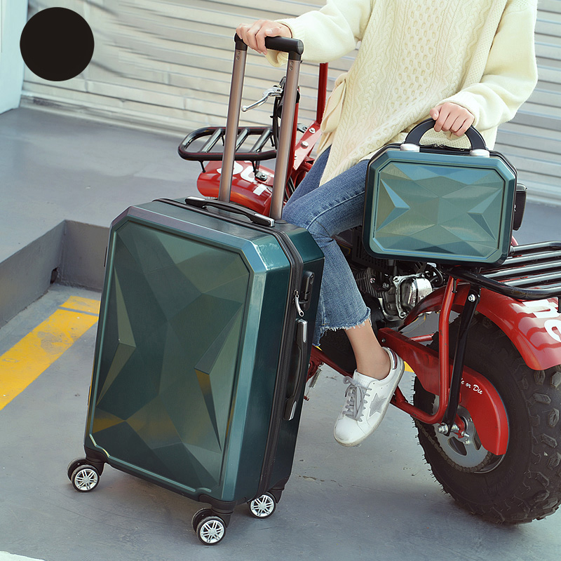 Letrend 3D Colorful Rolling Luggage Spinner Women rose Gold Suitcases Wheels Cabin Trolley Travel Bag 20/24 inch Carry On Trunk - 4