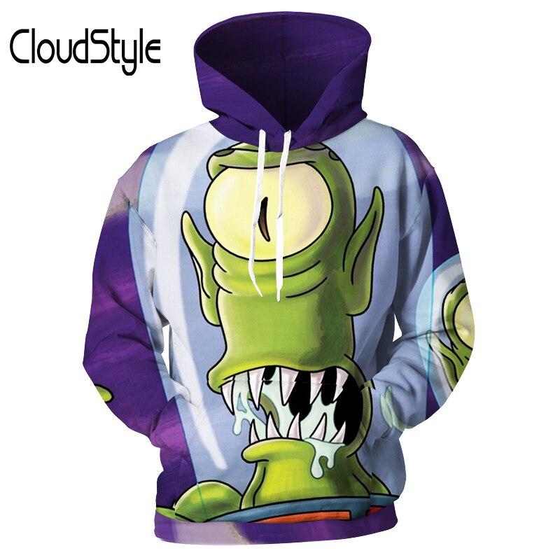 Cloudstyle Men/Women Hoodies 3D Printed Green Worm Loose Sweatshirts Brand Mens Hoodie Tracksuits Newest Streetwear Tops