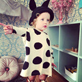 2016 NEW fashion baby clothing sumer dresses baby girl cute dot floral long sleeve dress baby autumn winter dresses baby clothes