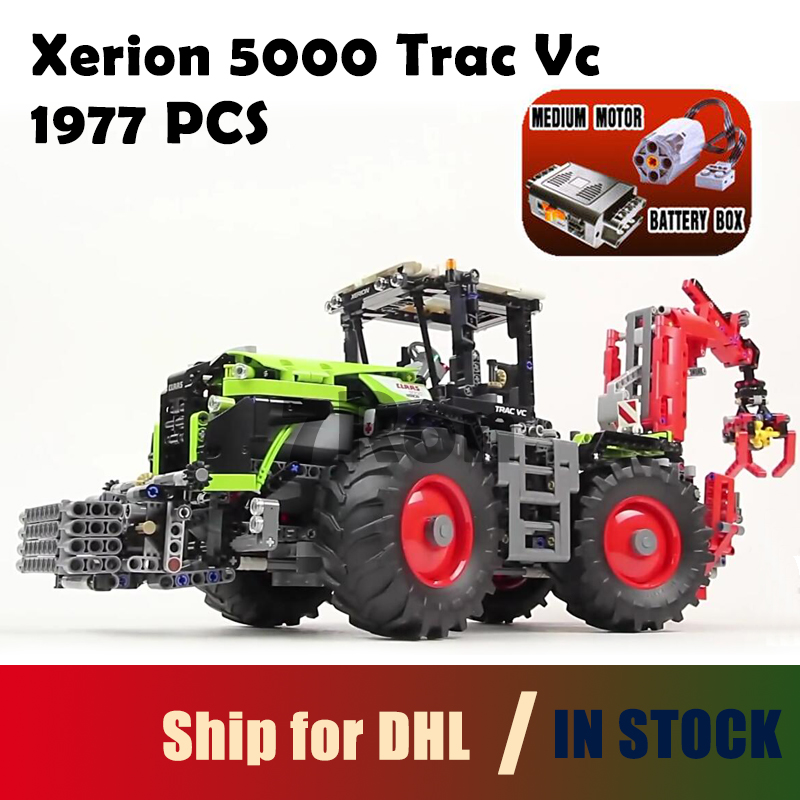 Model building toy 20009 1977pcs Claas Xerion 5000 Trac Vc Building Blocks Compatible with lego technic 42054 toys & hobbies