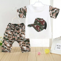 2016 Casual Children Baby Boys Camouflage Clothes T-shirts Set Summer Soldiers Regular Clothing Cotton Short T-Shirt +Pants Sets