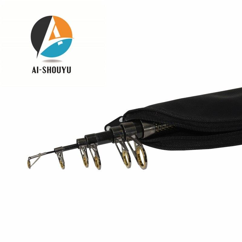 AI-SHOUYU Fibră de carbon Telescopic Rod de pescuit 2.1-4.5m Pârtii - Pescuit - Fotografie 5