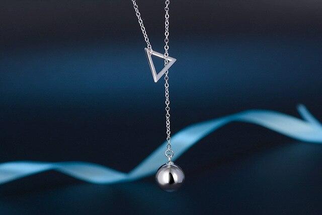 Новинка 2019 геометрическое треугольное ожерелье на свитер длинное