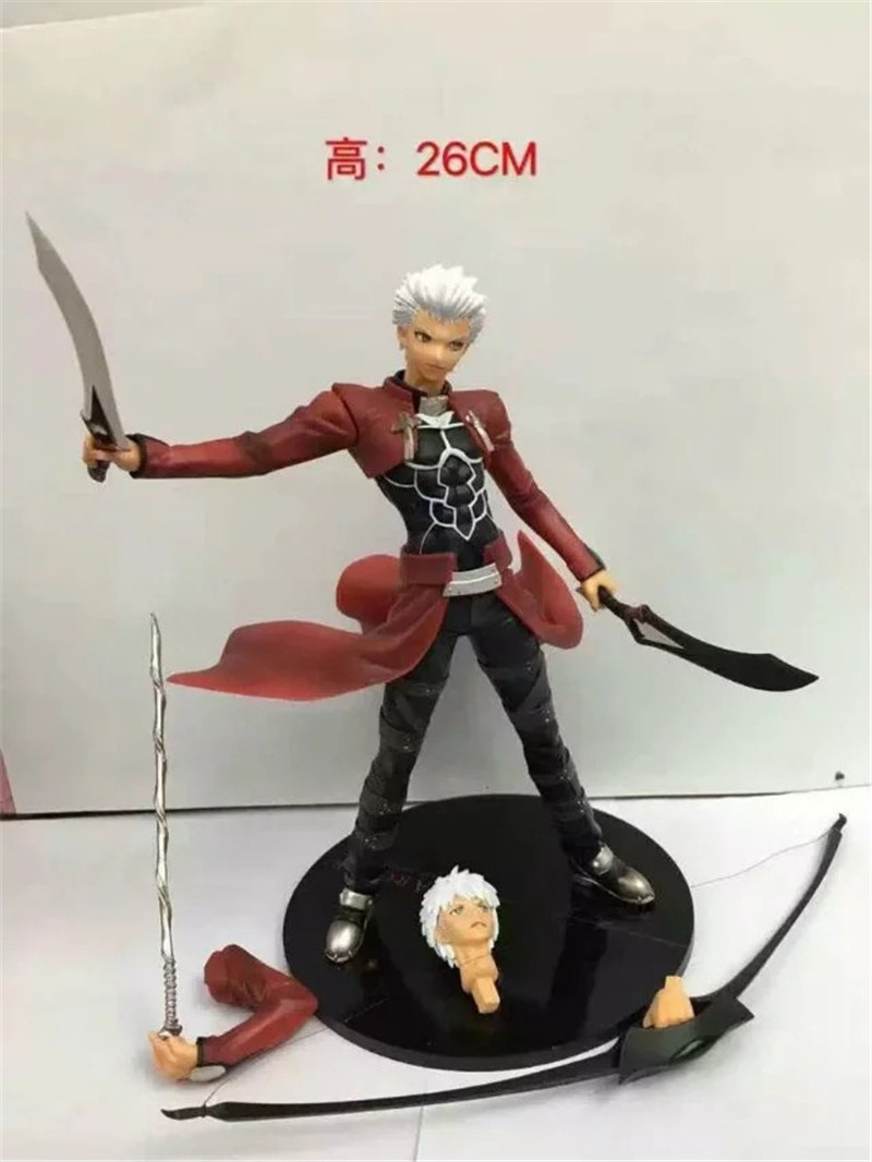 Alter FateUBW Archer Red A Emiya Action Figures Model Toys Game Fate Stay Night Red Saber Dolls Brinquedos Gift 26cm 12pcs set children kids toys gift mini figures toys little pet animal cat dog lps action figures
