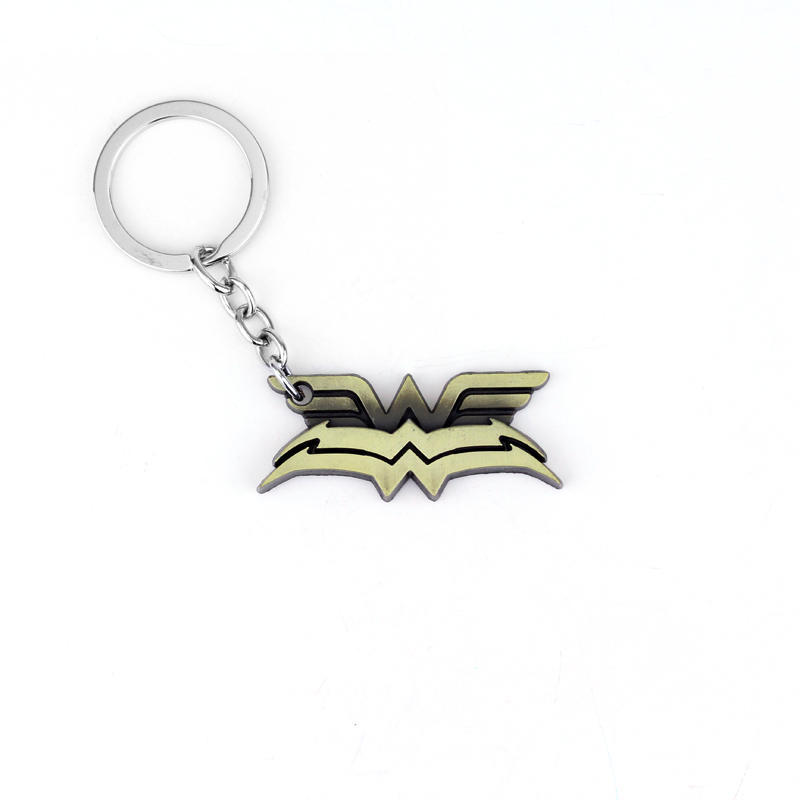 Superhero Wonder Woman Headwear Logo Keychain Halloween Cosplay Accessory New Year Holiday Birthday Gift Golden High Quality