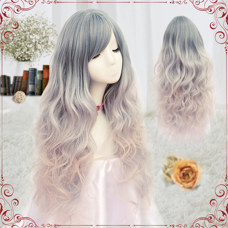 (Alice-Wig 047) Heat Resistant Fiber Hairpiece Synthetic Hair Wig Anime Lolita Cosplay Wig