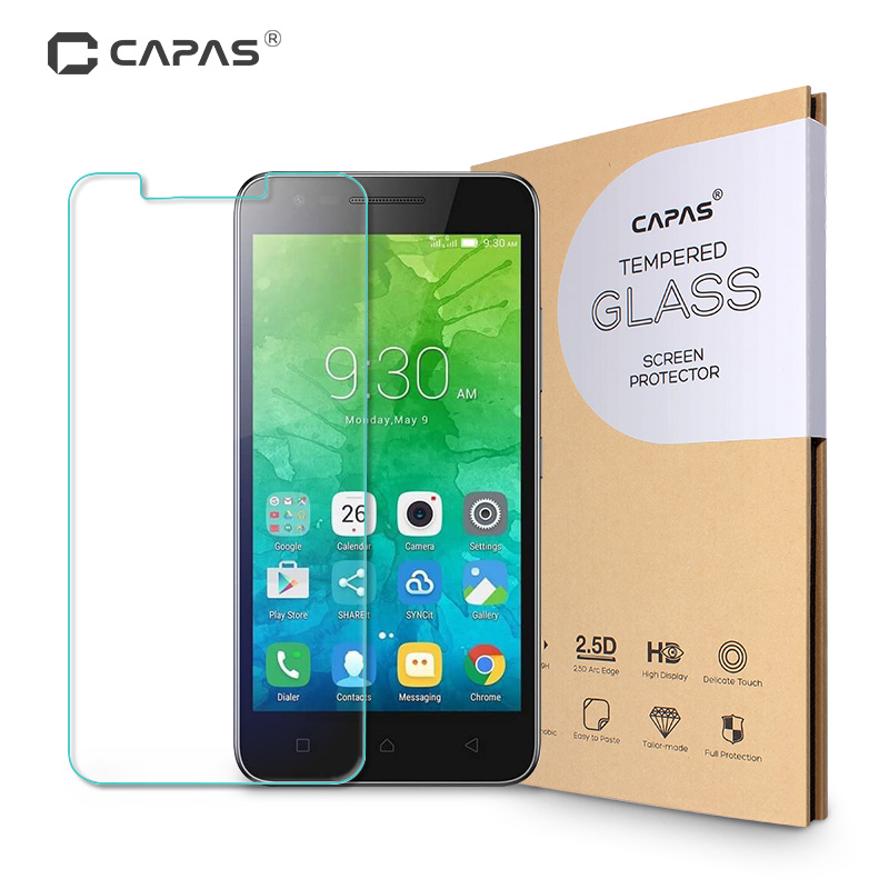 US $1 99 |Screen Protector for Lenovo C2 k10a40 Tempered Glass for Vibe C2  Original CAPAS Ultra Slim Explosion proof Protective Film-in Phone Screen