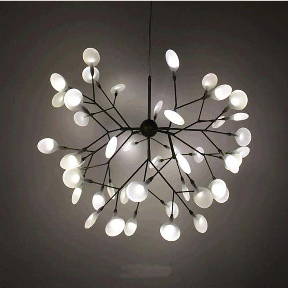 Led g4 moderne fer verre luciole designer led lampe led lumière pendentif lumières pendentif