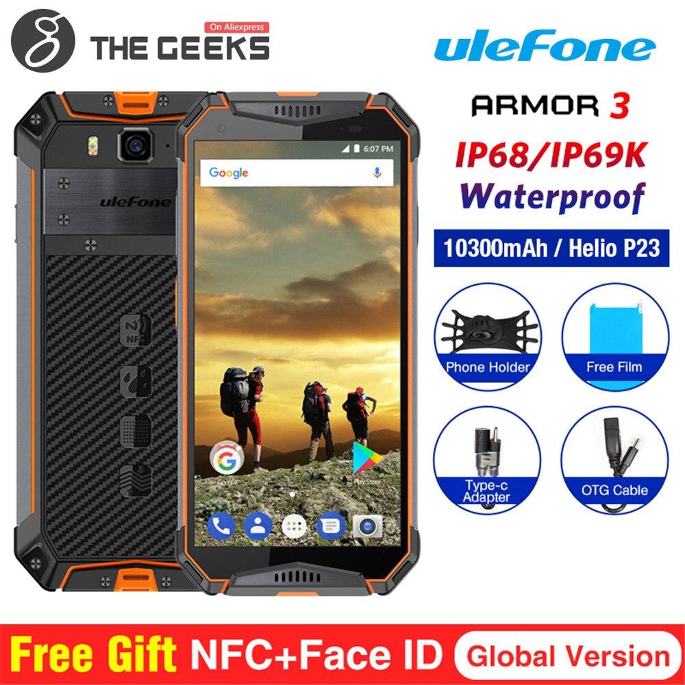 Ulefone Armure 3 IP68 Étanche Téléphone Mobile Android 8.1 5.7 FHD + Octa Core 4 gb + 64 gb 21MP 10030 mah Mondial Version Smartphone