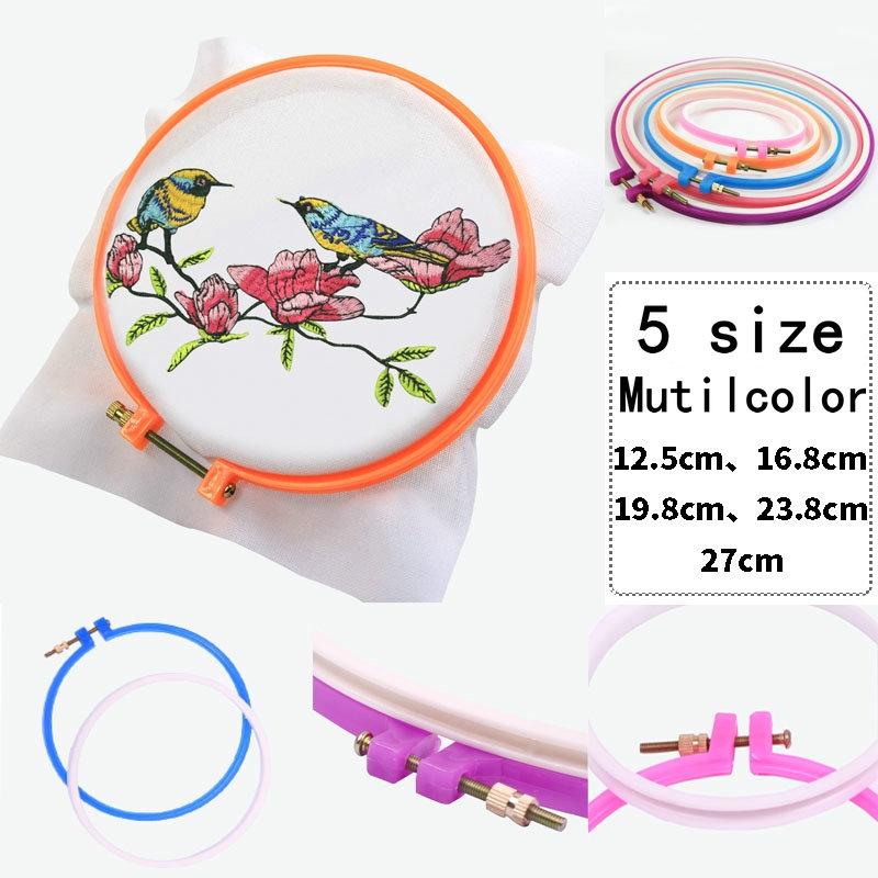 Baru 1 Pc Embroidery Hoop Sewing Tools Cross Stitch Hoop Set Rangka Embroidery Ring Ring Untuk Wanita Hadiah Ibu