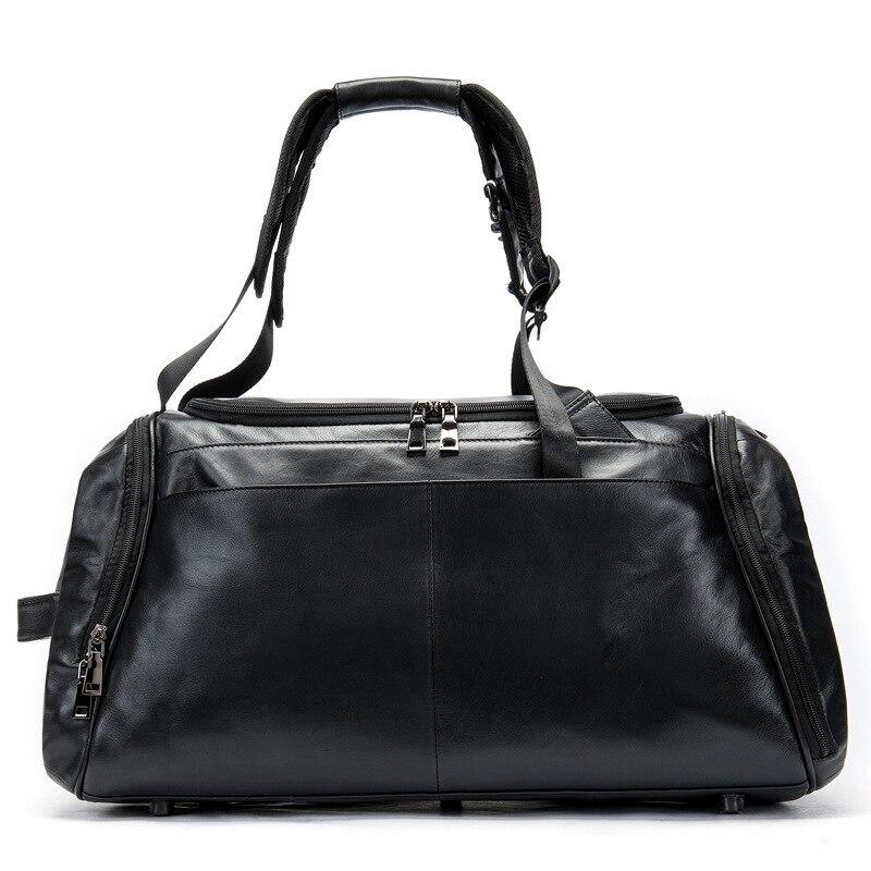 Мужской кожаный большой емкости на одно плечо мобильный дорожная сумка износостойкие, светло снижение Открытый Многофункциональный больш