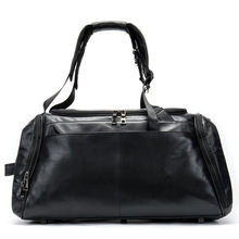 Unisex leather large-capacity one-shoulder mobile travel bag wear-resistant, light-reducing outdoor multi-function big