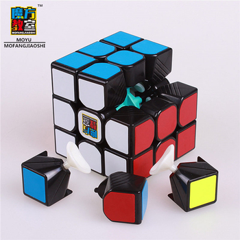 Moyu cube mofangjiaoshi 3x3x3 Magic puzzle Cubes professional speed cube stickerless  educational toys for children new moyu cubing classroom meilong pyramid cube 3x3x3 stickerless magic speed cubes professional puzzle cubes education toys