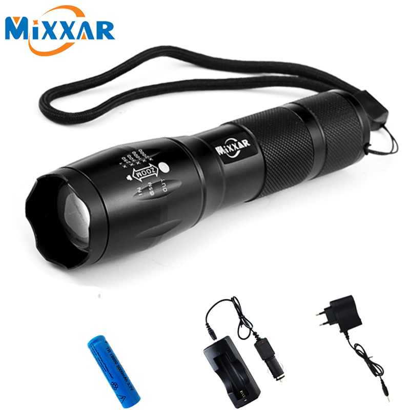 ZK56 LED Flashlight CREE XM L T6 4000LM 5 Modes Zoomable Tactical LED Torch Light With