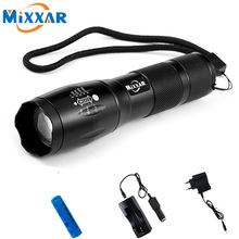 ZK56 LED Flashlight CREE XM-L T6 4000LM 5 Modes Zoomable Tactical LED Torch Light With Chargers and Batteries Outdoor Hiking
