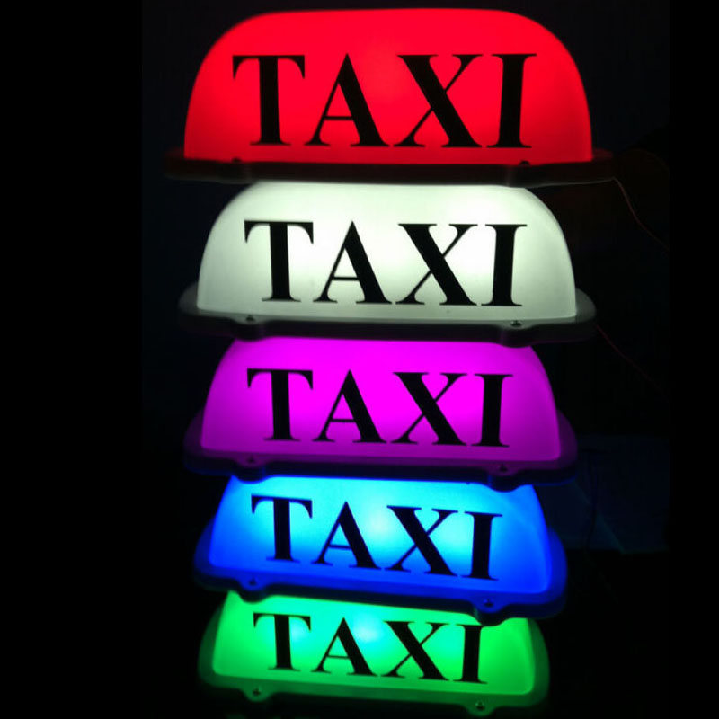 Lovely Pink 12V 10 LED Taxi Cab Sign Roof Top Topper Car Super Bright Light