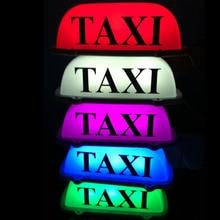 Lovely Pink 12V 10 LED Taxi Cab Sign Roof Top Topper Car Super Bright Light 10