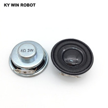 Купить с кэшбэком 2PCS/Lot High Quality Speaker Horn 3W 4R Diameter 4CM Mini Amplifier Rubber Gasket Loudspeaker Trumpet