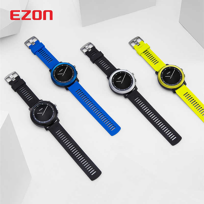 EZON Smart Watch Men Women Bluetooth Optical Heart Rate Monitor Remote Camera Sport Wrist Watch Clock Rechargeable Reloj Hombre