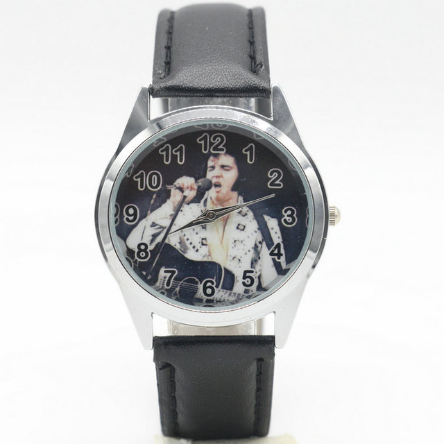 Free Shipping Elvis Presley cartoon children watches students kids wristwatch wa