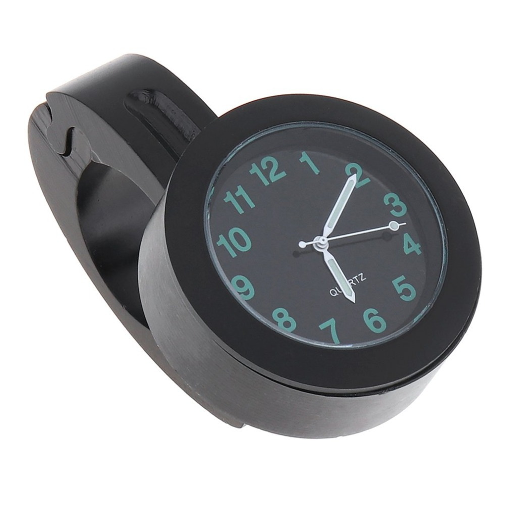 Universal Waterproof Bike Watch Grow In Dark Clock Motorcycle Alluminum Alloy Dial Mini For Mounting Bicycle Handlebar