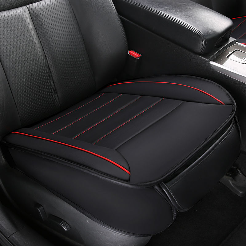 Leather Car Seat Cover Set Non Slide Auto Cushions Protector Pad