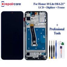 with Frame 6.2 1080x2340 IPS LCD for HUAWEI Honor 10 Lite Display Touch Screen 10i Digitizer