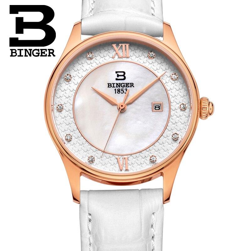 Fleurissement fleurs montre pour femmes élégant bracelet en cuir blanc montre-bracelet Quartz cristaux robe montre coque naturelle analogique Reloj - 4