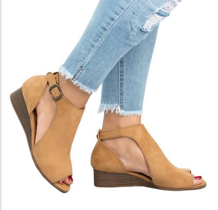 2019 Summer wedge Shoes Woman Platform Sandals Women Soft Leather Casual Peep Toe Gladiator Women Sandals zapatos mujer size 432019 Summer wedge Shoes Woman Platform Sandals Women Soft Leather Casual Peep Toe Gladiator Women Sandals zapatos mujer size 43