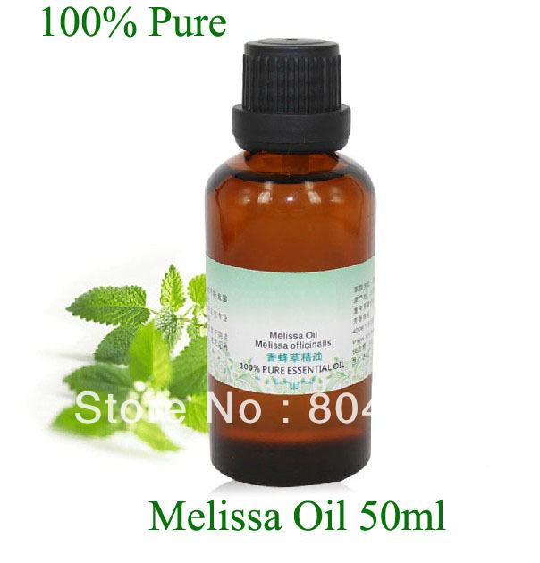 Organic natural plant oil 100% purity Melissa essential oil 50ml/bottle organic natural plant oil 100